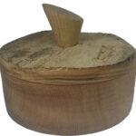 Miska dębowa z pokrywką z postarzałego dębu